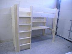 Hoogslaper Met Bureau En Kast : Hoogslaper met kast boekenkast en bureau sophia