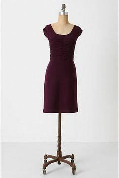 Anthropologie Sparrow Wool Look Back Dress in Purple Size Medium | eBay