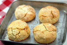 Scones / Biscuits 2 ½ cups blanched almond flour, plus about 1 cup for dusting the dough) ½ teaspoon celtic sea salt ½ teaspoon baking soda ¼ cup coconut oil 2 eggs 1 tablespoon honey