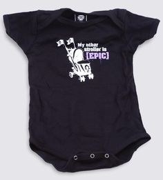 NX : World of Warcraft [EPIC] Stroller Baby One-Piece - Clothing Inspired by Video Games & Geek Culture - My son had the toddler T-shirt of One Piece Clothing, Clothing Items, Goose Clothes, Geek Baby, Gifts For New Dads, Baby Jumpsuit, Baby Games, World Of Warcraft, Baby Love