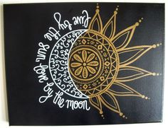 11x14 CUSTOM Painted Canvas Live By The Sun Love by StyleCanvas: