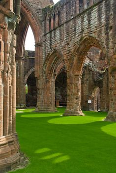 13th century Sweetheart Abbey, near Dumfries, Scotland... We used to go here to a lovely wee tearoom opposite every Saturday for afternoon tea