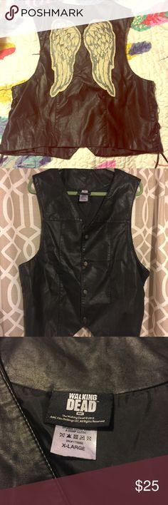 Daryl Dixon Vest by Hot Topic Super cool, like new Daryl Dixon Vest by Hot Topic from The Walking Dead. Really fun!! Hot Topic Suits & Blazers Vests