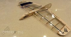 looks like a cool hand launched gliderModel Balsa Wood Glider Design   Opteryx Micro DLG HLG SAL Balsa RC Glider