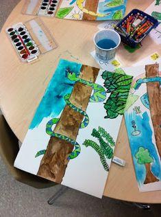 35 Ideas For Jungle Animal Art For Kids Henri Rousseau Art Lessons For Kids, Art Lessons Elementary, Art For Kids, First Grade Art, 2nd Grade Art, Henri Rousseau, Animal Art Projects, Jungle Art Projects, Ecole Art