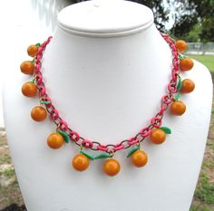 Bakelite fruit necklace vintage 1930s-40s by lolatrail on Etsy