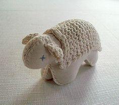 soft toy SHEEP stuffed animal Waldorf toy organic cotton. $25.00, via Etsy.