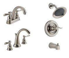 Bathroom Plumbing Fixtures | Delta Windemere | Brushed Nickel