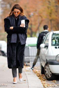 Christine Centenera, outside Lanvin, during Paris Fashion Week Womenswear Spring/Summer 2018, on September 27, 2017 in Paris, France.