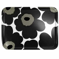 Marimekko Black Unikko Large Tray   #pintofinn