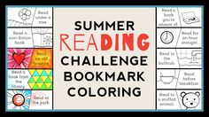 Our free printable summer reading challenge bookmark is a fun way to motivate kids to read over the summer. Color in challenges as they go!