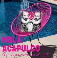 Montaigne Pillow on icon Acapulco Chair  www.apartment415.com