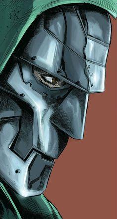 Dr Doom by Marco Checchetto Comic Book Villains, Marvel Villains, Marvel Heroes, Comic Books Art, Marvel Dc, Comic Art, Book Art, Marvel Comic Universe, Comics Universe