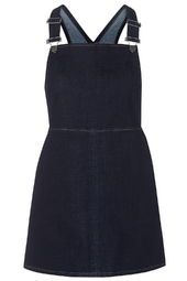 PETITE EXCLUSIVE Denim Pinafore Dress