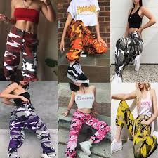 new fashion Women Camo Cargo Trousers Casual Pants Military Army Combat Camouflagerricdress Woman Trousers _________ woman's casual trousers palazzo ascot culottes dirndl Boyfriend Jeans Damen, Baggy Jeans Damen, Fashion Pants, New Fashion, Fashion Outfits, Womens Fashion, Fashion Trends, Style Fashion, Fashion Clothes