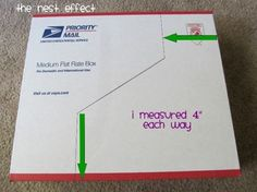How to create 12x12 Paper file boxes from recycled USPS shipping boxes