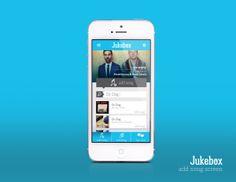 Jukebox App Design by Kyle Helmstetter, via Behance