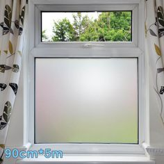 Recognized fashion trend frosted windows glass privacy decorative film. No need to use glue, no need to change glass, easy to apply, block vision more effectively. Tips: To stick the film easily, make sure the surface you want to adhere clean and spray it with water. | eBay!