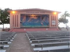 Hollywood Beach Theatre, Johnson Street, Florida. They have done free concerts here several days a week since I was a kid. Great memories.