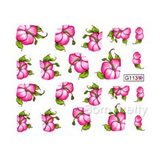 Hibiscus water decals! Use my code ANGELIQUEC10 to save 10%  @BornPrettyStore, Nail Art Water Decals Transfer Stickers Rose ... at $1.99. http://www.bornprettystore.com/-p-15803.html