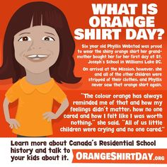 Aboriginal Education, Indigenous Education, Residential Schools Canada, Indigenous Knowledge, Williams Lake, Mean People, Orange Shirt, Color Activities, Native American History
