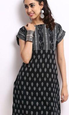 contrast kurta neck designs - Google Search