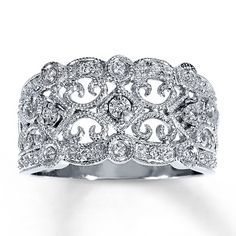 No too fancy but still beautiful, not too overpriced either. Diamond Ring 1/8 ct tw Round-cut Sterling Silver