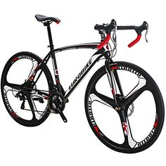 Price: (as of – Details) Eurobike Road Bike 21 Speed 54 cm Frame Wheels Road Bicycle Dual Disc Brake Bicycle Disc Brake System – Provides long lasting and stronger… Best Road Bike, Road Bikes, Bicycle Disc Brakes, Trike Bicycle, Buy Bicycle, Road Bike Frames, Carbon Road Bike, Bicycle Maintenance, Cool Bike Accessories