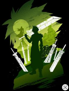 Inspired by the Protagonist of Final Fantasy VII Final Fantasy Vii Remake, Artwork Final Fantasy, Final Fantasy Cloud, Fantasy Posters, Final Fantasy Characters, Fantasy Series, Flareon Pokemon, Final Fantasy Collection, Cloud Strife