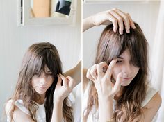 how to style bangs when growing them out