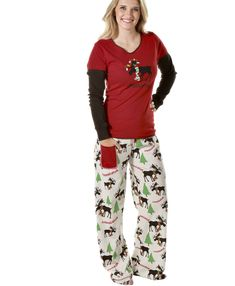 04b892271d Moosletoe Collection - LazyOne - Matching Pajamas for Men