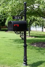 wrought iron mailbox post - Google Search