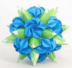 折纸玫瑰的简单折法之模块纸玫瑰的折法图解教程