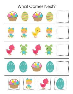 . Preschool Learning Activities, Easter Activities, Preschool Lessons, Toddler Activities, Preschool Activities, English Worksheets For Kids, English Lessons For Kids, Math Patterns, Montessori Art