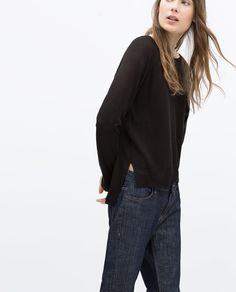 SWEATER WITH SIDE SLITS-Sweaters-KNITWEAR-WOMAN | ZARA United States