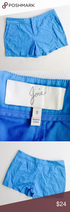 Joie Shorts Cute blue shorts by Joie.  Bundle this item along with 2 or more items from my closet and save an extra 10% off!   Feel free to comment below if you have any questions :)  Thanks Joie Shorts