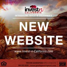 Very excited to announce the launch of Invest-n-California's new website!!  Stay up to date with our new properties and the real estate market in California. Take a look around and let us know what you think!  http://www.invest-n-california.com/  #website #invest #realestate #commercialrealestate #realestateagent #Realtor #investment #broker #sotherncalifornia #california #investncalifornia #trevorgoodspeed