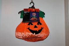 Totally Ghoul Toddler Pumpkin Vest Halloween Costume  NEW Size 1-2 Years #TotallyGhoul #Vest