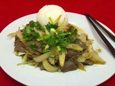 Dušené hovězí cibulí Beef, Vietnam, Ox, Steak