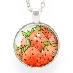 Cute Red Strawberry Necklace, kawaii fruit pendant – CellsDividing