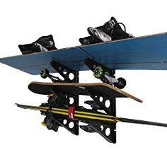 Ski and Snowboard Storage Rack - StoreYourBoard Snowboarden Best Boyfriend Gifts, Best Gifts For Men, Skateboard Storage, Ski Rack, Wall Racks, Storage Racks, Wall Storage, Best Skis, 21st Birthday Gifts
