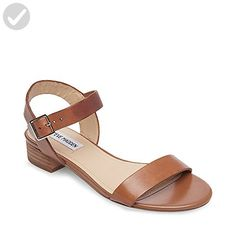 Steve Madden Women's Cache Flat Sandal, Cognac Leather, 5.5 M US - All about women (*Amazon Partner-Link)