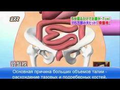 Японская методика похудения на валике - YouTube