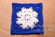 The Perfect Knot Crochet and More: Winter Bliss Square ~ free pattern ᛡ
