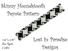 Skinny Houndstooth Peyote Bracelet Pattern.  via Etsy.