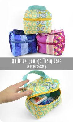Freebie Friday! Quilt-as-you-go Train Case