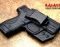 Glock 42 .380 AUTO | Custom IWB Kydex Holster | Tactical Black | Appendix Carry | Straight Draw | High Quality Glock Holster