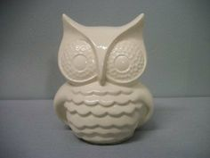 White Owl Home or Garden Decor by TLCCeramicsIL on Etsy, $22.00