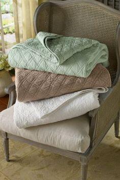 Diamond Quilt - Diamond Pattern Quilt, Cotton Quilt | Soft Surroundings