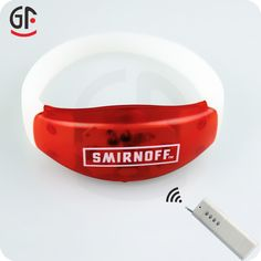 New arrival remote control led silicon bracelet. Great for party or concerts.